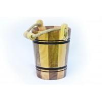 Кружка деревянная в виде ведра